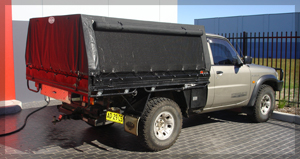 Canopies and frames can be built to suit any vehicle or trailer type from utes to race trailers. & Auto Tarp | Auto Tarp : Georges Canvas : Campbelltown : Macarthur ...